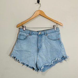 Wild Fable Light Wash High Rise Cut Off Shorts 10